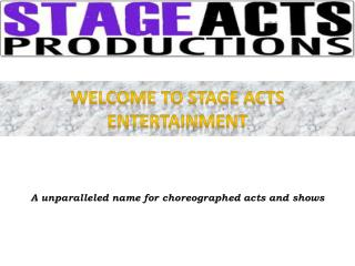 Corporate Entertainment - Stage Acts Entertainment