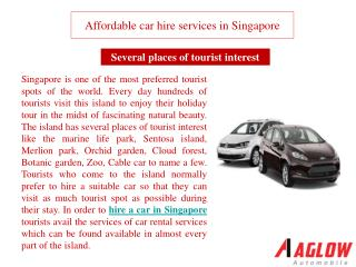 Affordable car hire services in Singapore
