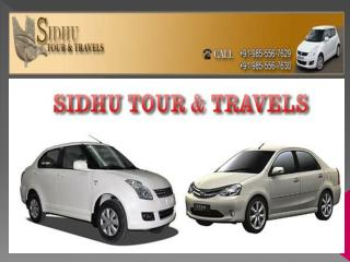 Sidhu Tour & Travels - Chandigarh to Shimla Taxi Service