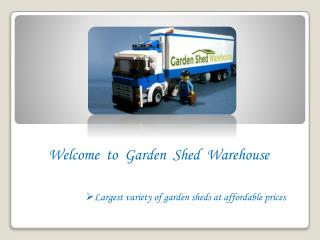 Garden Sheds for Sale in Melbourne - GSW