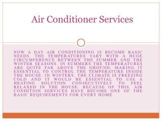 How to choose air conditioner services