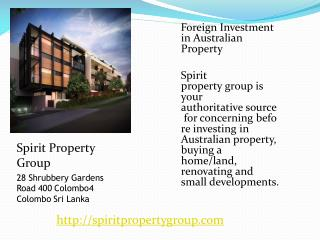 Foreign Investment in Australian Property