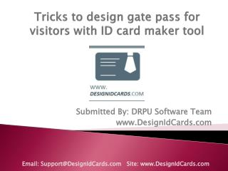 Tricks to design gate pass with ID card maker tool