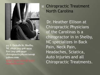 Sciatica Chiropractic Treatment  in North Carolina