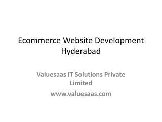 Ecommerce Website Design Development Hyderabad