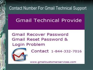 Gmail Technical Support 1-844-332-7016 for Gmail account set