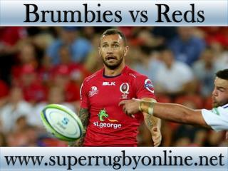 watch Brumbies vs Reds live Super rugby match