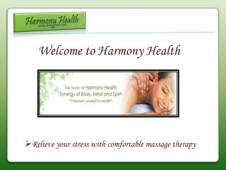 Shiatsu Massage - Harmony Health