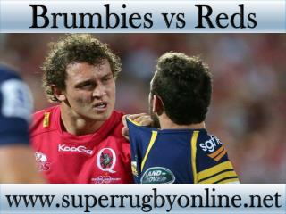 Super rugby Brumbies vs Reds