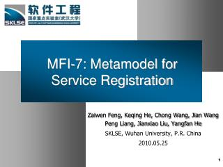MFI-7: Metamodel for Service Registration