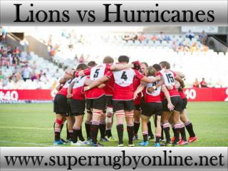 watch Lions vs Hurricanes stream online live