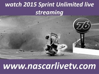 Watch Nascar 2015 Sprint Unlimited Live Racing
