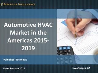 Automotive HVAC Market in the Americas 2015-2019
