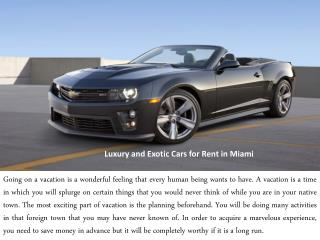 Luxury and Exclusive Car Rental Service from Exotic Car Expr