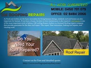 Proper Roof Repairs may increase the life of your house