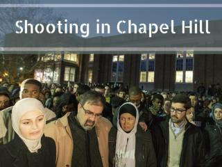 Shooting in Chapel Hill