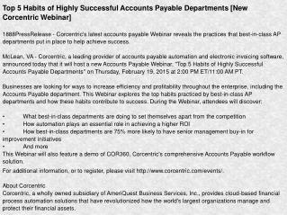Top 5 Habits of Highly Successful Accounts Payable