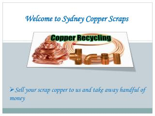 Copper Recycling Company - Sydney Copper