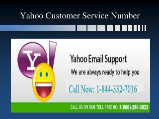 Yahoo customer Service 1-844-332-7016 for account recovery