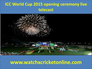 ICC World Cup 2015  live telecast