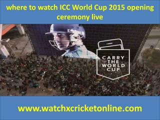 where to watch ICC World Cup 2015  live