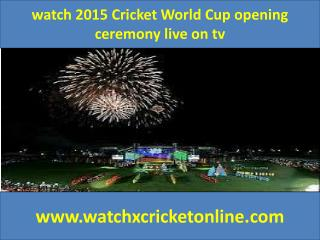 watch 2015 Cricket World Cup  live on tv