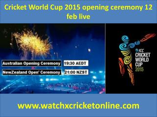 Cricket World Cup 2015 live