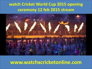 watch Cricket World Cup 2015  2015 stream