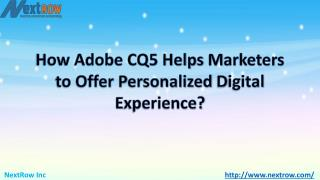 Marketers latest strategy for success Adobe CQ5