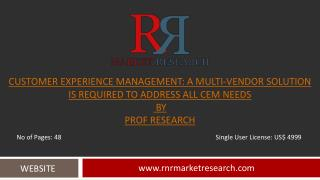 Customer Experience Management Industry CEM Research Report