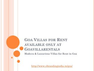 Service Villa house rent for tourist in Goa