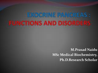 PANCREATIC FUNCTION TESTS