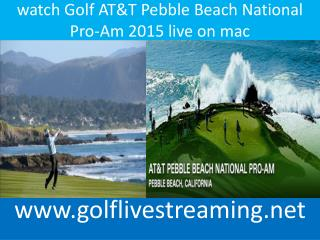watch Golf AT&T Pebble Beach National Pro-Am 2015 online ios