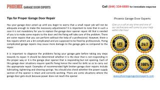 Tips for Proper Garage Door Repair
