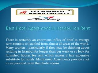 Best Hotel Apartment in Istanbul on Rent