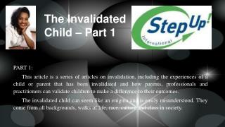 The Invalidated Child - Part I