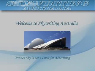 Aerial Advertising - Skywriting Australia