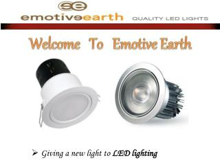 LED lights in Melbourne - Emotive Earth