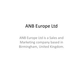 ANB Europe Ltd - Events