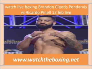 watch online boxing Brandon Cleotis Pendarvis vs Ricardo Pin