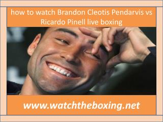 boxing Ricardo Pinell vs Cleotis Pendarvis live coverage