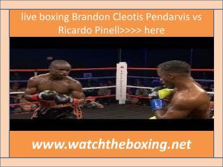 how to watch Ricardo Pinell vs Cleotis Pendarvis live stream