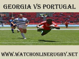2015 Georgia vs Portugal live rugby match