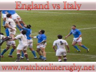 watch Rugby Match England vs Italy