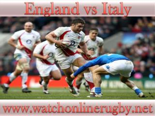 watch rugby England vs Italy live stream