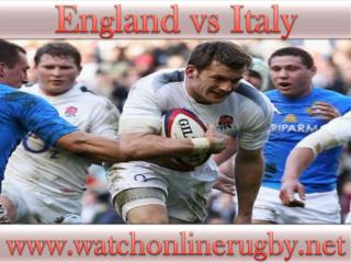 live rugby match England vs Italy