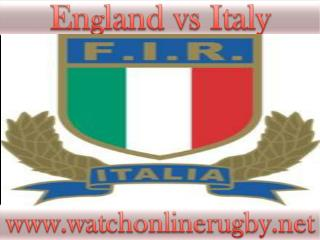 watch England vs Italy online rugby match