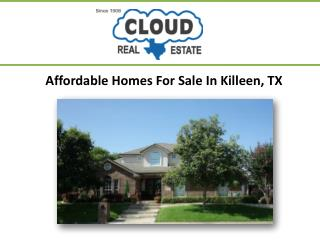 Affordable Homes For Sale In Killeen TX
