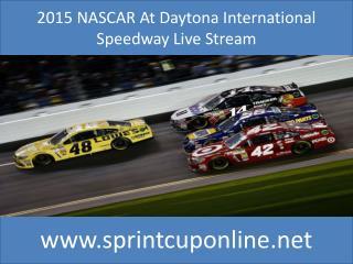 Watch NASCAR schedules 2015