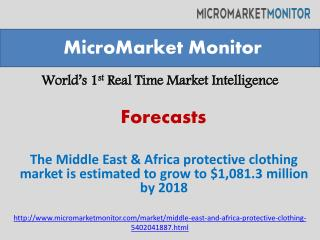 The Middle East & Africa protective clothing market is estim
